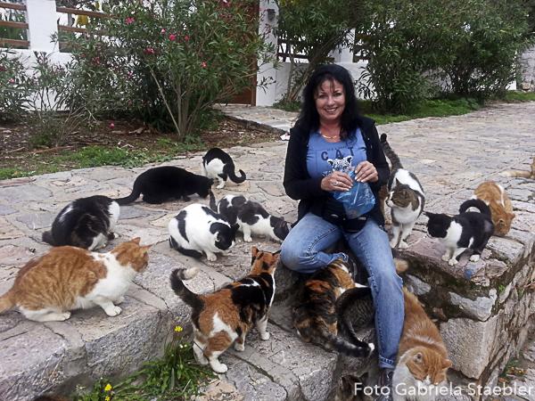 Gabriela Staebler mit Katzen, Hydra