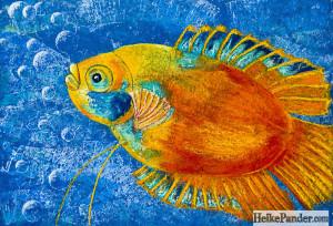 Fisch, Pastellkreide, Heike Pander