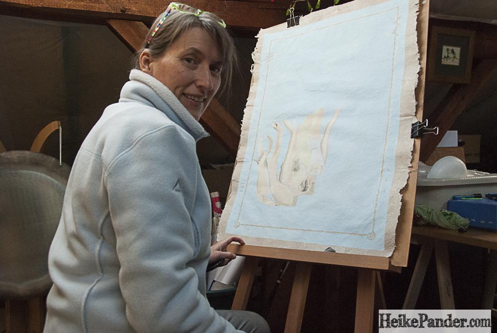 Im Atelier, Heike Pander