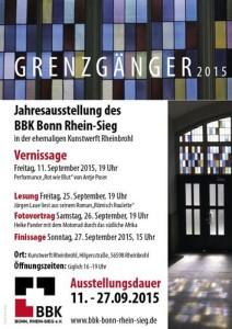 """""""Grenzgänger"""" Plakat Jahresausstellung"""