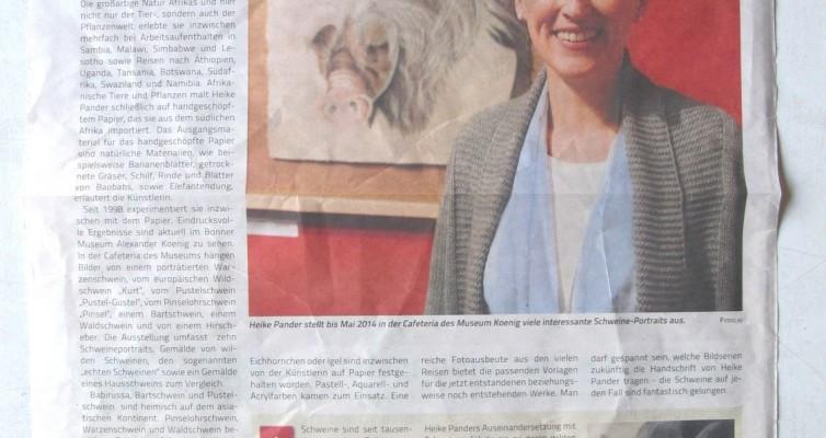 "Ausstellung ""Echte Schweine"", Museum Koenig, Bonn, Blickpunkt/Schaufenster, Bonn"