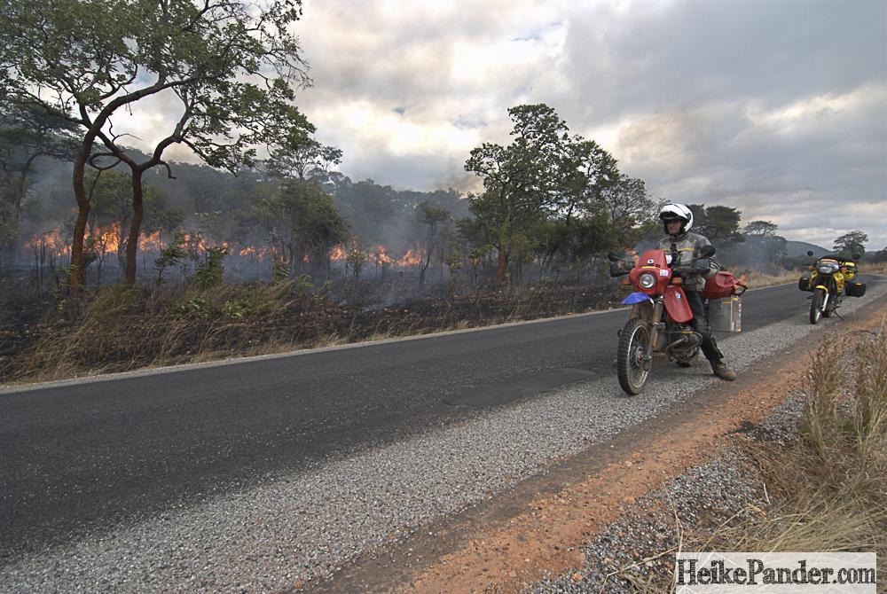 Grasbränder, Sambia