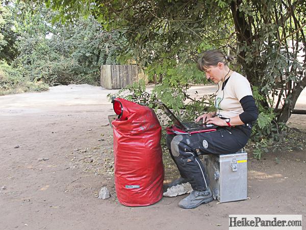 Schreiben geht überall - Chobe NP, Botswana
