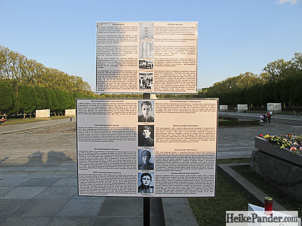 Informationstafel, Ehrenmal, Treptower Park