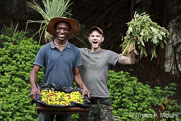 J.P. Moore mit Farmer, Lagos