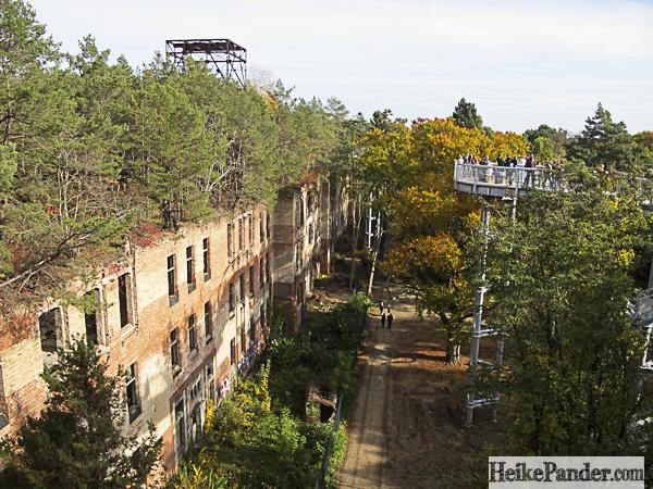 Baumkronenpfad Beelitz, Blick auf Ruine