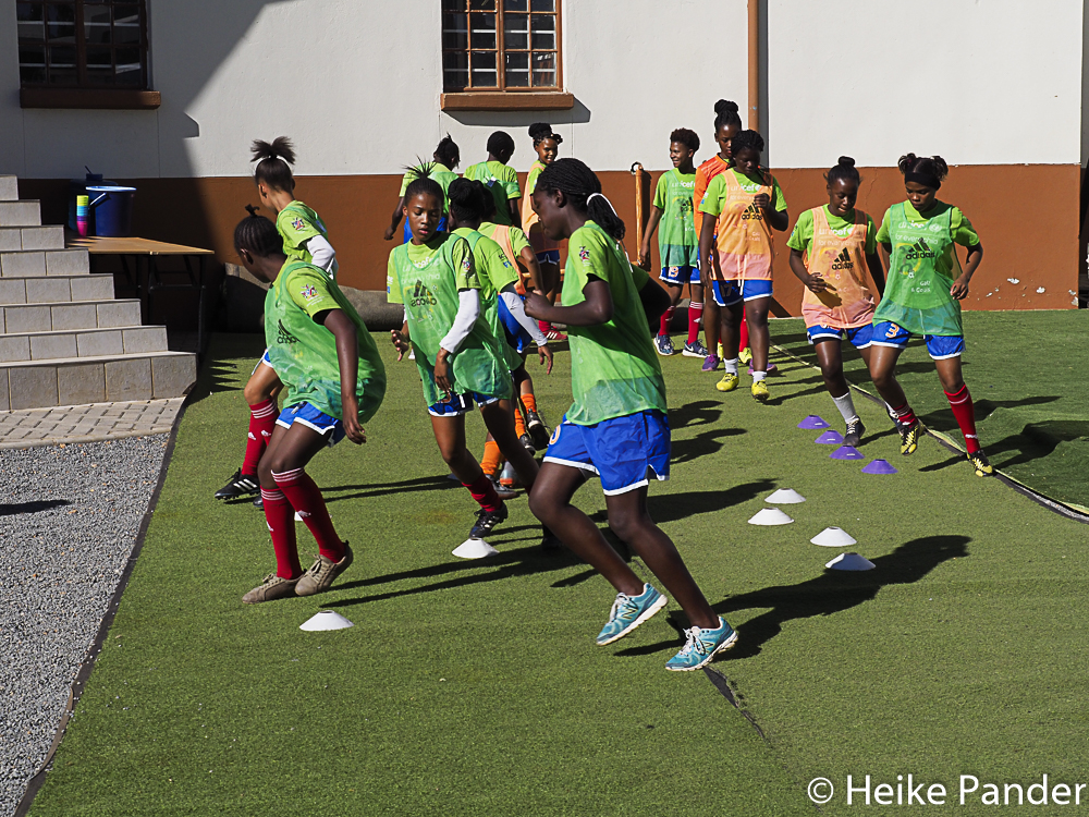 Girls Center, Trainingseinheit, National Football Association, Windhoek Namibia