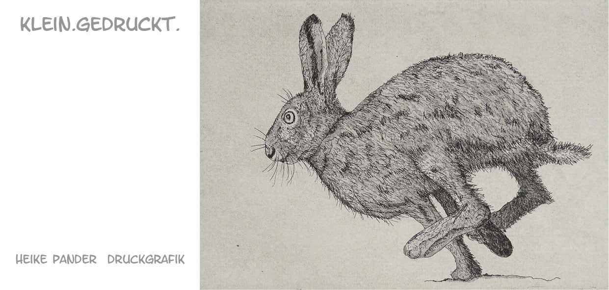 """Einladung Ausstellung """"klein.gedruckt."""", Galerie MASH, Heike Pander"""