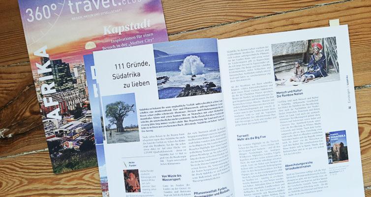 """Beitrag über Buch """"111 Gründe, Südafrika zu lieben"""", 360° Afrika"""