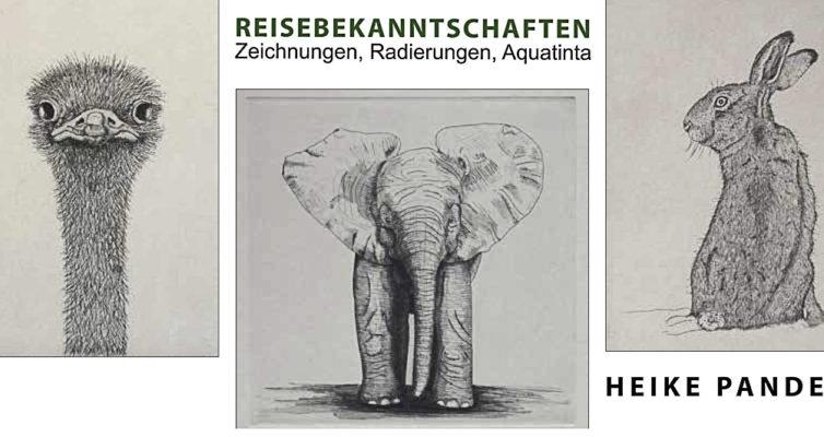 """Einladung zur Ausstellung """"Reisebekanntschaften"""", Heike Pander, © Kulturring Berlin"""