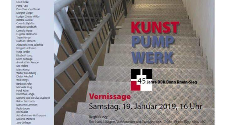 """Einladung zur Ausstellung """"KunstPumpWerk"""", Pumpwerk Siegburg, BBK Bonn-Rhein/Sieg"""