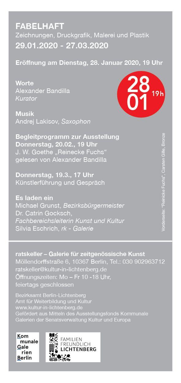 """Aussellung """"FABELHAFT"""", Ratskeller Lichtenberg, Berlin"""