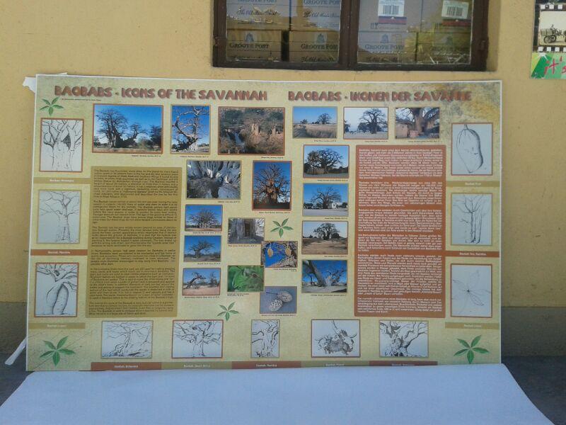 Informationstafel, Heritage Center, Namushasha, Copyright Gondwana Collection, Namibia