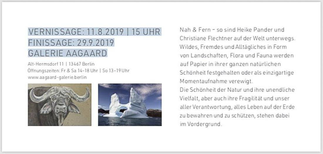 """Einladung zur Ausstellung """"Nah & Fern"""", Christiane Flechtner & Heike Pander"""