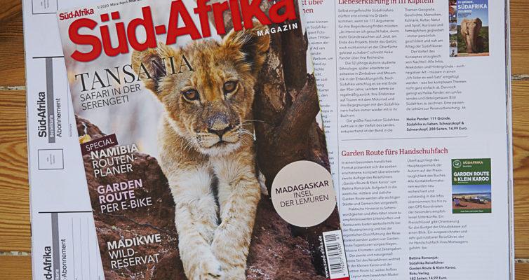 "Buchbesprechung ""111 Gründe, Südafrika zu lieben"" im Süd-Afrika Magazin, Ausgabe I/2020"