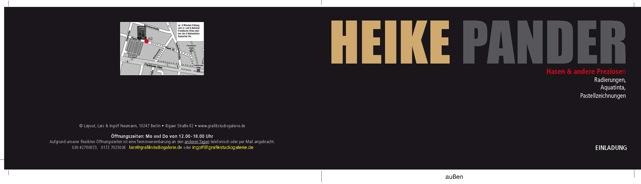 """Einladung """"Hasen & andere Preziosen"""", Ausstellung Grafik Studio Galerie, Berlin"""
